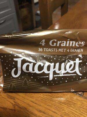 Canapes ronds 4 graines jacquet - Produit