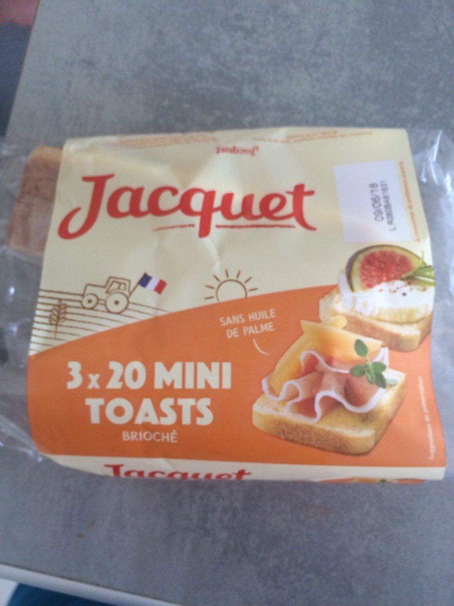 3x20 mini toasts - Product - fr