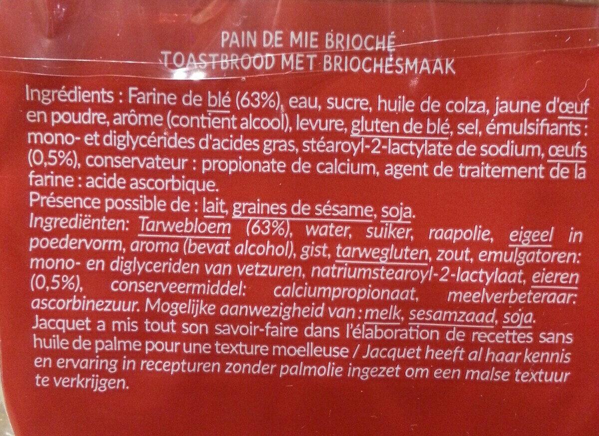 3x20 mini toasts - Ingrediënten - fr
