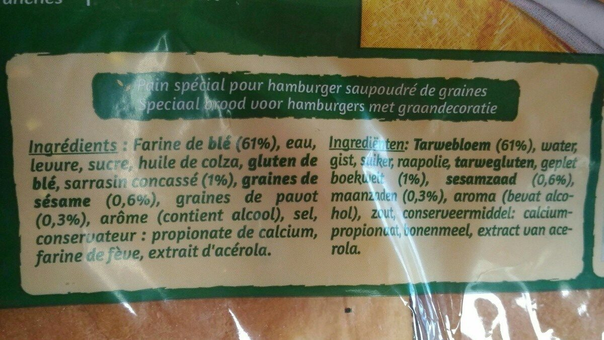 Géant pain burger - Ingrediënten