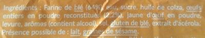 Tartine p'tit déj brioché - Ingrediënten