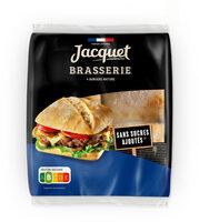 Brasserie burger nature sans sucres ajoutes x4 - Prodotto - fr