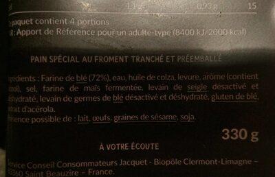 Brasserie burger nature sans sucres ajoutes x4 - Ingredienti - fr