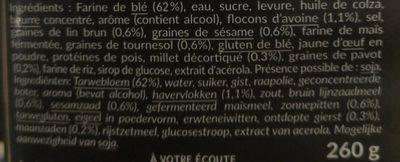 4 Burgers Création Graines - Ingrédients - fr