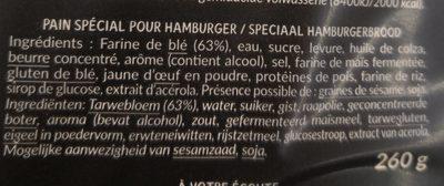 Burgers Création Nature - Ingrédients - fr