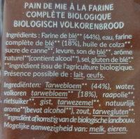 Pain de mie Bio Complet - Ingredienti - fr