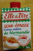 Semi-Epaisse Crème entière de Normandie - Product - fr