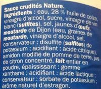 Sauce crudités - Ingredienti - fr
