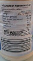 Sauce crudités - Valori nutrizionali - fr