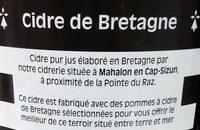 Cidre Cuvée Spéciale Guillevic Pur jus Kan Ar Mor - Ingredientes