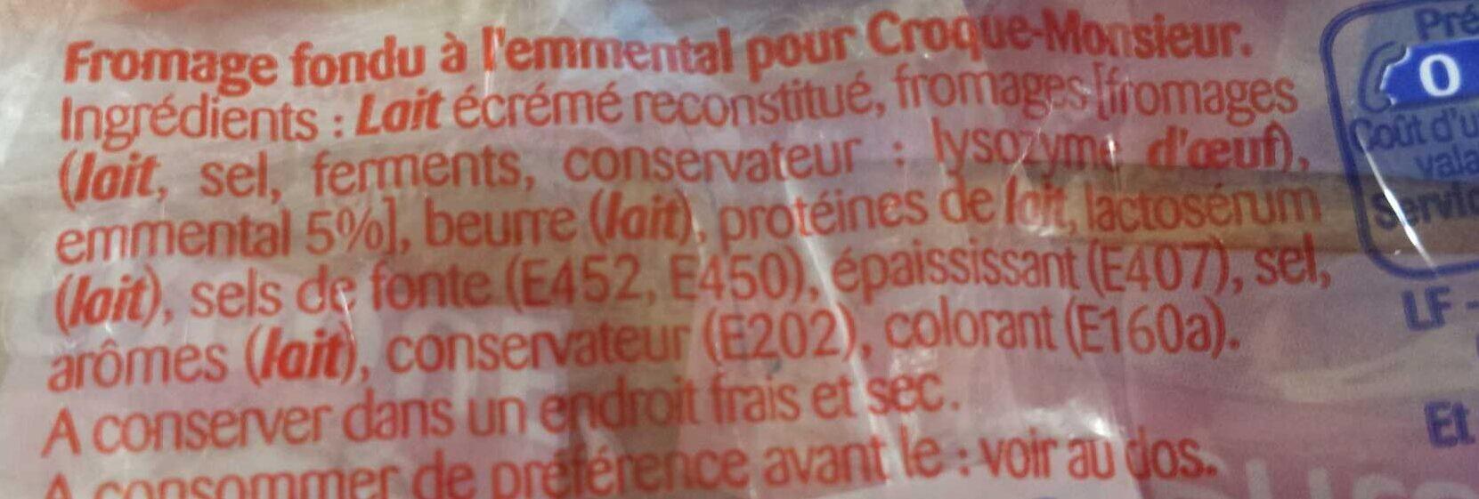 Croque' Emmental - Ingrédients - fr