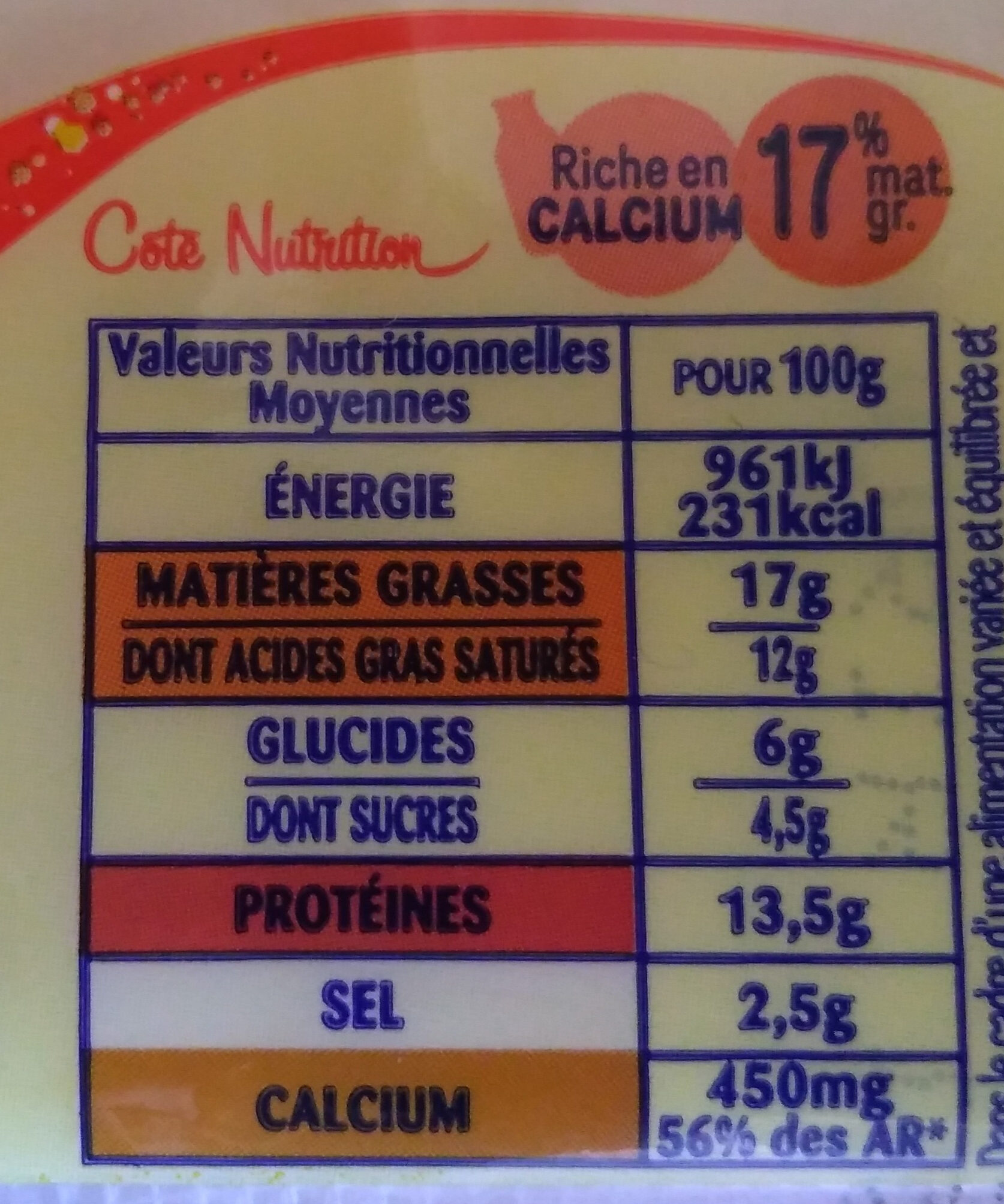 Croque' Emmental - Informations nutritionnelles - fr