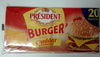 Burger' Cheddar & Emmental 20 Tranches (17 % MG) - Product