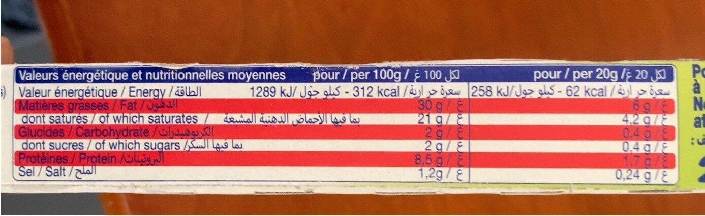 Carré à la Crème - Informations nutritionnelles - fr