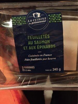 Feuilletés au saumon et aux épinards - Product - fr