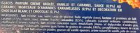 Délice à l'Ancienne, Vanille-Caramel-Parfum crème brûlée-Eclats amandes caramélisées - Ingredients - fr
