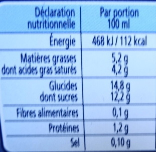 Délice à l'Ancienne, Vanille-Caramel-Parfum crème brûlée-Eclats amandes caramélisées - Nutrition facts - fr