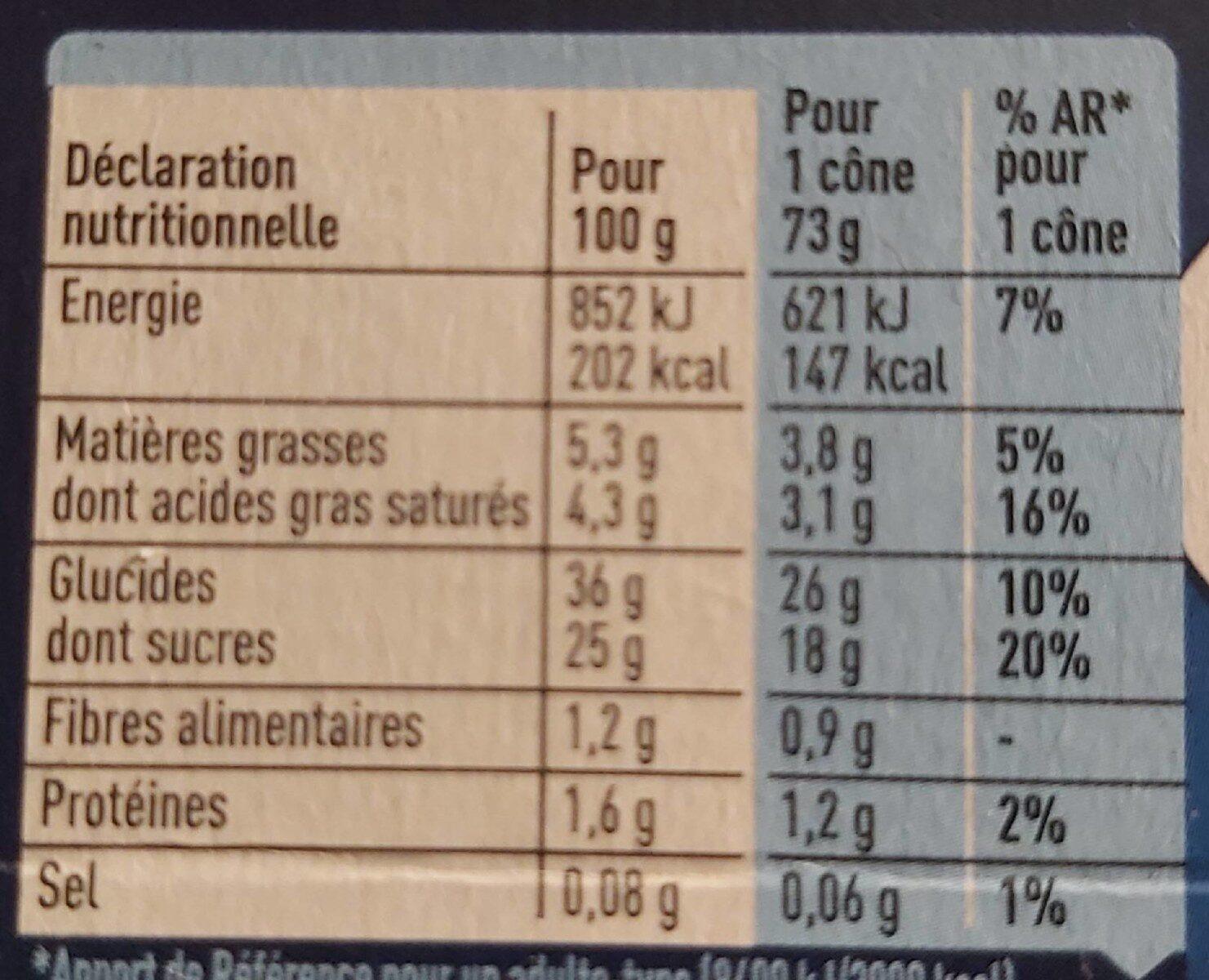 Sorbets fruits rouges extrême - Informations nutritionnelles - fr