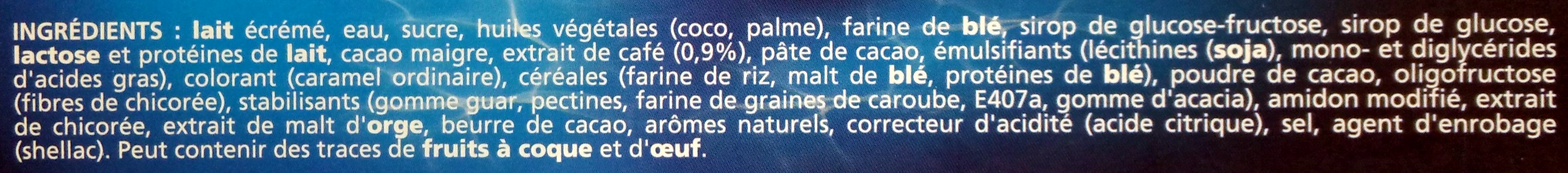 Extrême Café - Ingredients