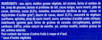 eXtrême Menthe Chocolat - Ingrédients - fr