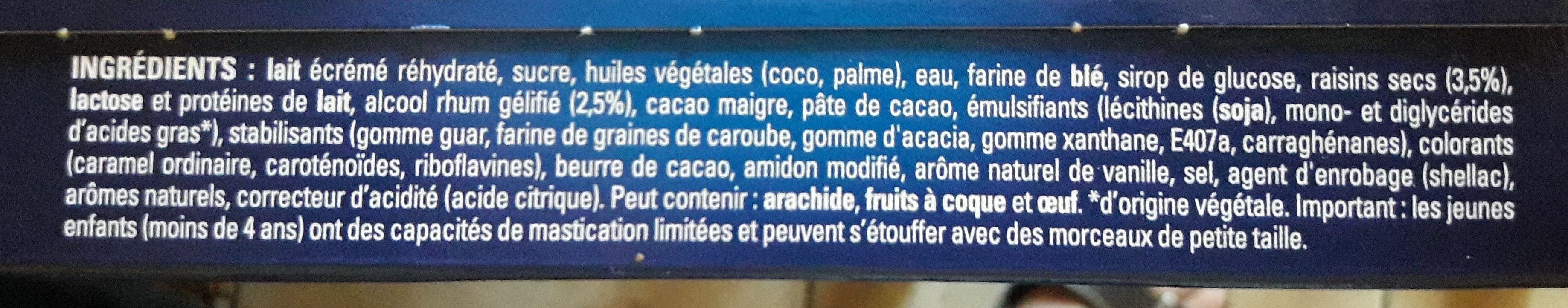 Extrême Rhum Raisin - Ingredients - fr