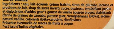 Vanille intense - Ingrédients