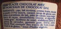 Glace chocolat éclats de chocolat - Ingrédients