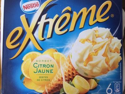 Extrême Sorbet Citron Jaune Zestes de Citron - Produit - fr