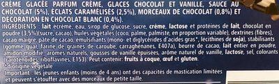 Bûche De Noêl Glacée Nestlé, Dame Blanche - Ingrédients - fr