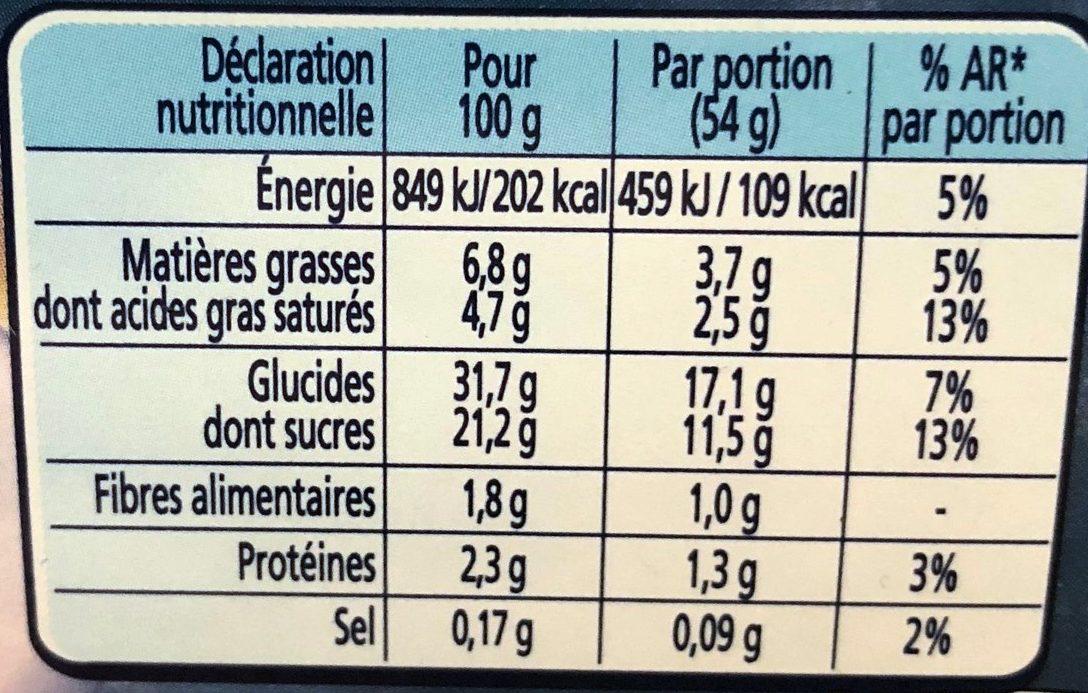 Bûche De Noêl Glacée Nestlé, Dame Blanche - Informations nutritionnelles - fr