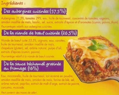 Moussaka à la grecque - Ingrédients