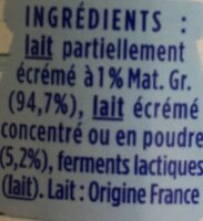 Le nature - Ingredients - fr