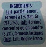 Le Nature - Ingrédients
