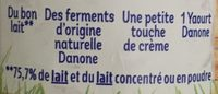 Yaourts nature - Ingrédients - fr