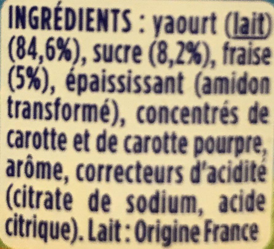 Velouté Fruix Fraise - Ingredienti - fr