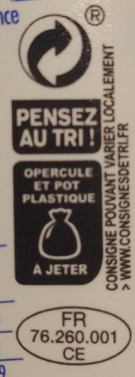 SKYR - Recycling instructions and/or packaging information - fr