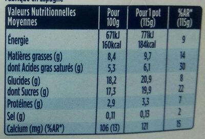 Oikos plaisir méditerranéen - Nutrition facts