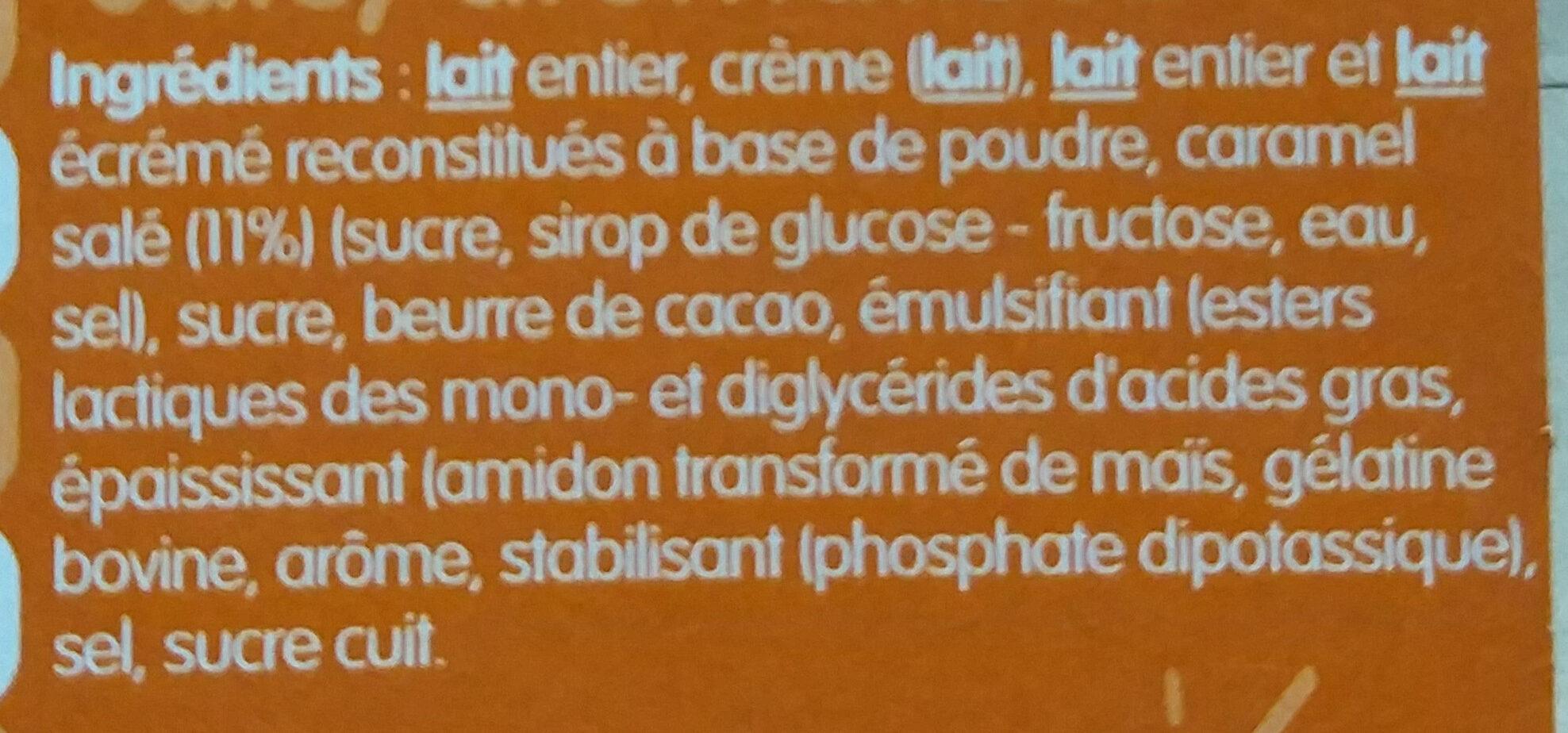 Danette Mousse caramel salé - Ingredienti - fr