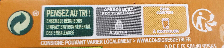 Danette Mousse caramel salé - Istruzioni per il riciclaggio e/o informazioni sull'imballaggio - fr
