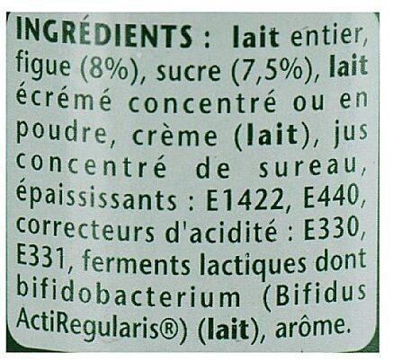 activia figue - Ingredients - fr