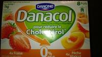 Danacol fraise / peche abricot - Produit - fr