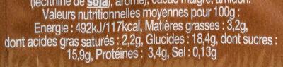 P'tite Danette Chocolat - Voedingswaarden - fr