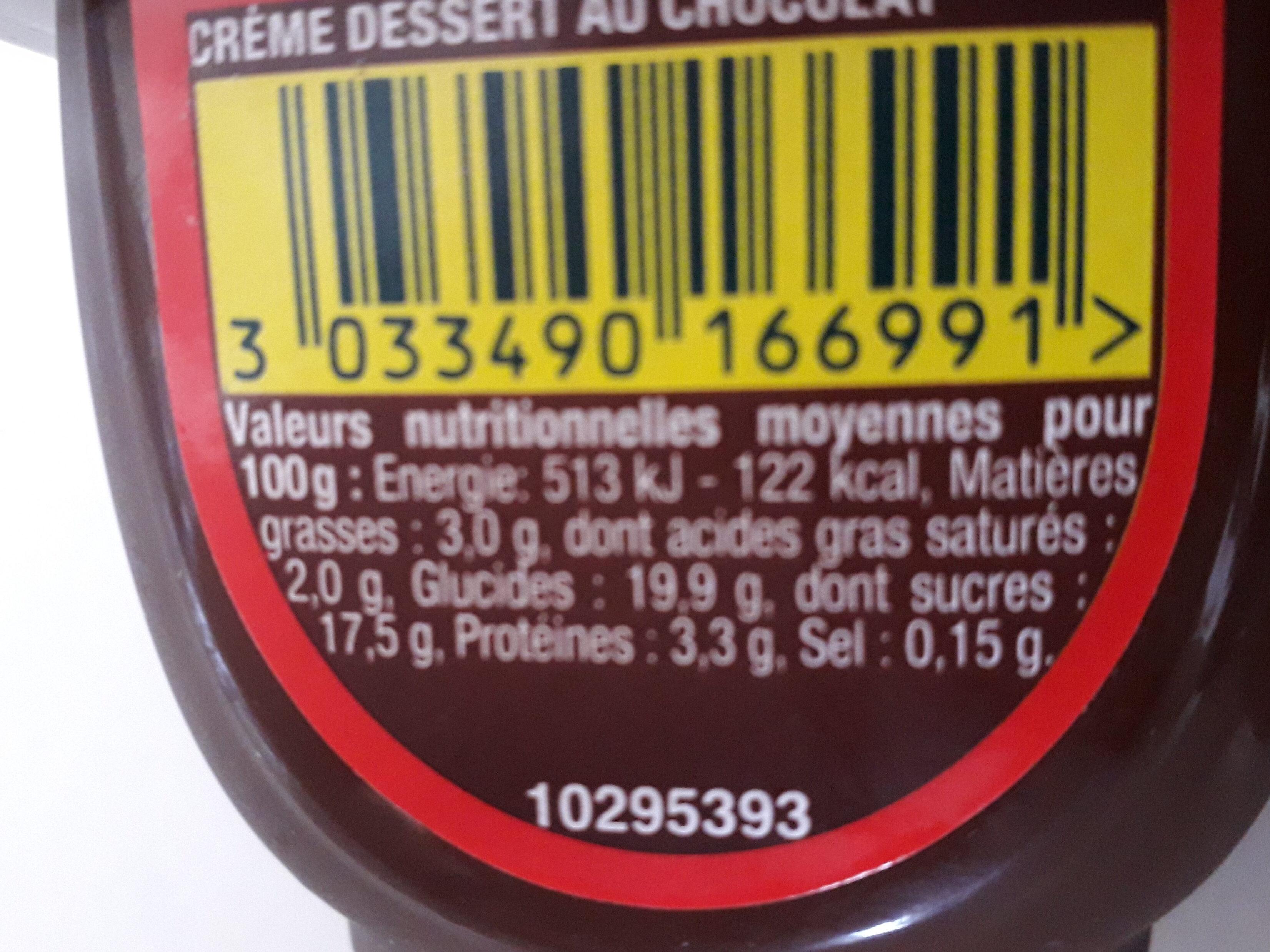 Crème Dessert Danette Danone, Chocolat Prix Choc - Informations nutritionnelles - fr
