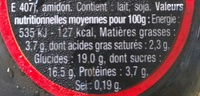 Danette Noir Extra - Informations nutritionnelles - fr