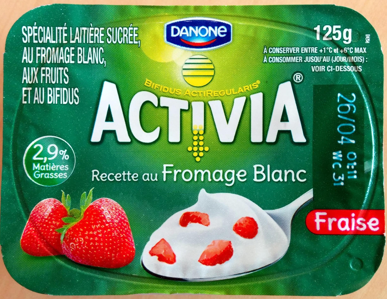 Activia Recette au Fromage Blanc (2,9 % MG) Fraise - Produit - fr