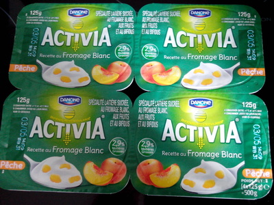 Activia Recette au Fromage Blanc (2,9 % MG) Pêche - Product - fr