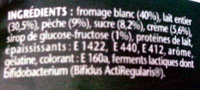 Activia Recette au Fromage Blanc (2,9 % MG) Pêche - Ingrediënten - fr