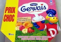 Gervais (Saveurs : Fraise, Banane, Pêche, Framboise, Abricot) 18 Pots - Produit - fr