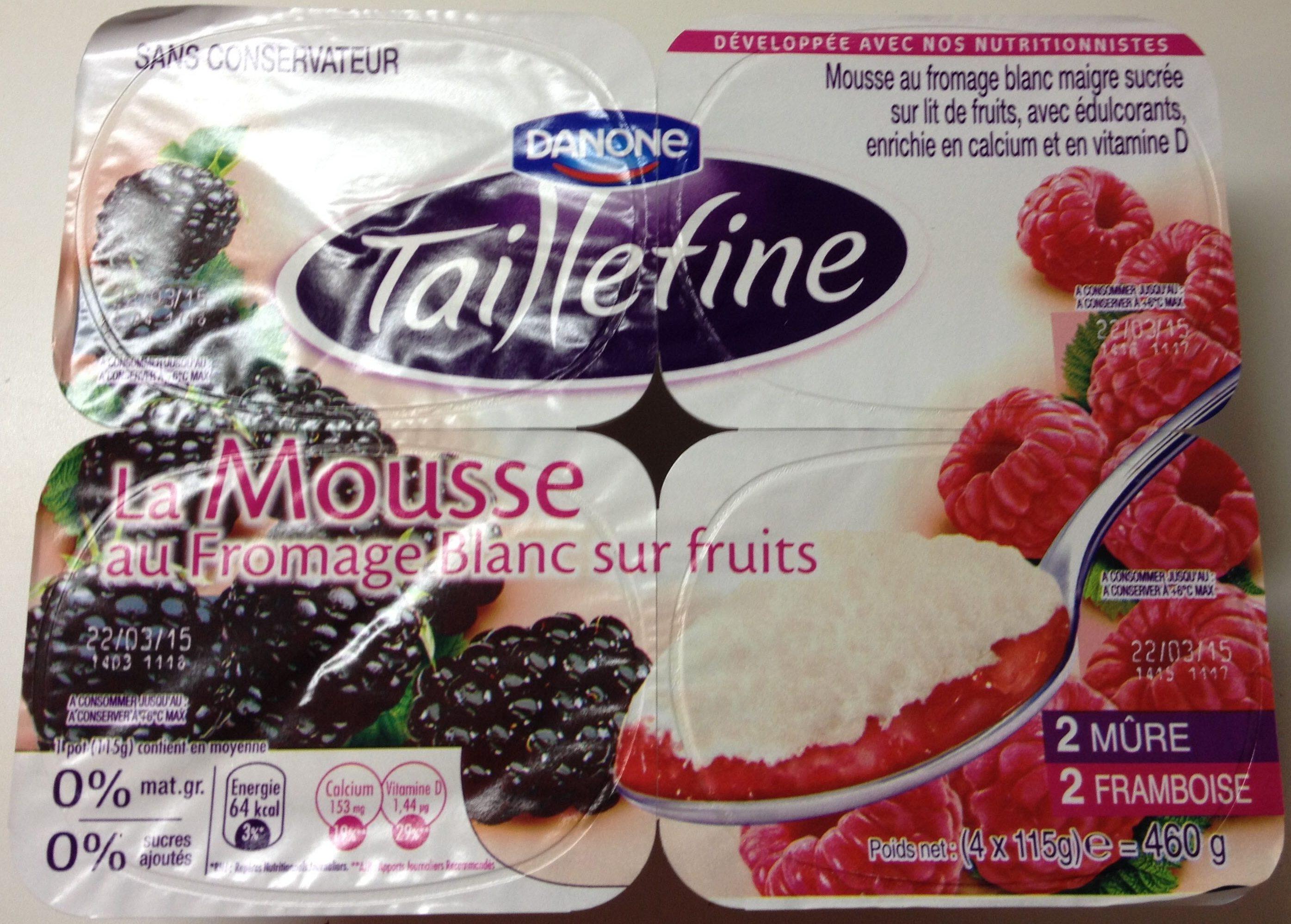 Mousse au fromage blanc sur fruits - Produit - fr