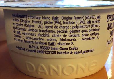 Taillefine recette au fromage blanc pêche - Ingrédients - fr